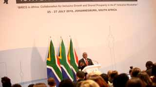 WRAPPING IT UP: President Cyril Ramaphosa closes the 10th BRICS Summit in Sandton on Friday.Pictures: Nhlanhla Phillips/African News Agency (ANA)