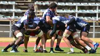 Warren Whiteley (centre) of the Lions with teammates during their training session at Johannesburg Stadium on Tuesday. Photo: Samuel Shivambu/BackpagePix