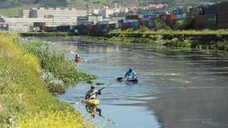 Water conservationists made their way through the city's waterways and canals in kayaks to try to highlight litter pollution. Picture: Armand Hough/African News Agency (ANA)