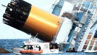 Water poured in through a 50m gash in the hull of the Costa Concordia, forcing the evacuation of about 4 200 people. Picture: AP