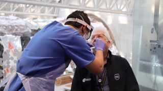 Western Cape Premier Alan Winde gets tested for the coronavirus. File Picture