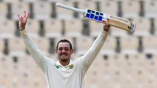 Wicketkeeper-batsman Quinton de Kock scored an impressive, undefeated 141 to put the Proteas on the front foot in the first Test against the West Indies. Photo: Cricket West Indies