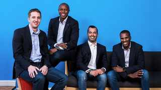 Yoco founders (from left to right) Bradley Wattrus (CFO), Katlego Maphai (CEO), Carl Wazen (chief business officer) and Lungisa Matshoba (CTO). Photo: Supplied