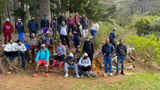 Young men hiked at Newlands Forest to learn about a role a man plays in their community. Supplied.