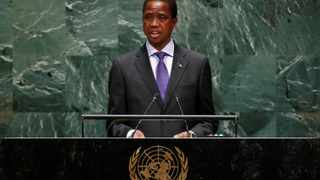 Zambia's President Edgar Chagwa Lungu addresses the 74th session of the United Nations General Assembly at UN headquarters in New York. File picture: Lucas Jackson/Reuters