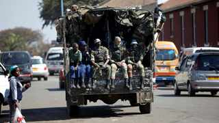 Zimbabwe President Emmerson Mnangagwa's spokesman said that there was no order issued by the army to clear central Harare. Picture: Reuters/Siphiwe Sibeko