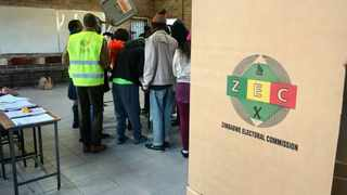 Zimbwabwe polling officials at Zengeza 3 High School in Zengeza outside Harare go through the procedure for the the day as the country prepares to vote in the general elections. PHOTO: Matthews Baloyi/Africa News Agency (ANA)