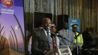 eThekwini Mayor Mxolisi Kaunda officially launch the 2019/20 festive season safety plan at the Durban Exhibition Centre, Durban. During the launch he revealed some of the Provincial Tactical and Operational Focal Areas and highlighted some of the municipal's Safely Home campaigns that will run over the festive season. Picture: Motshwari Mofokeng/African News Agency (ANA)