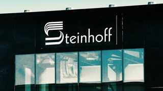 A Steinhoff International Holdings logo on display outside the company's offices in Stellenbosch. (File picture: Business Report)