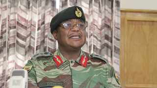 Zimbabwe Defence Forces Commander Constantino Chiwenga addresses a press conference at KGVI military barracks in Harare. Picture: ANA