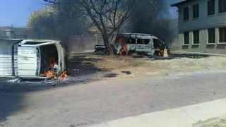 Bapo Ba Mogale Tribal office in Bapong near Brits was torched on November 9, allegedly by unemployed forum members, in September, the unemployed forum members also torched several vehicles at the multi million palace. FILE PHOTO: Supplied