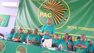 One of the presidents of the embattled PAC, Narius Moloto, addresses members during a conference in Mpumalanga. File picture: Balise Mabona/ANA