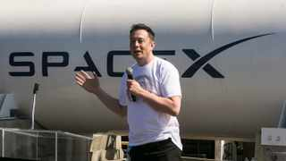SpaceX CEO Elon Musk   Photo: AP/Damian Dovarganes
