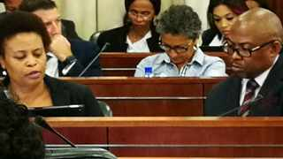 Transnet board chairwoman Linda Mabaso (left) and group chief executive Siyabonga Gama appear before Parliament'standing committee on public finances. Picture: Chantall Presence/ ANA