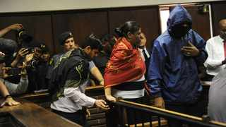 Takisi Janki Masiteng, Ronica Raghavan and Varun Gupta are among eight suspects who appeared at the Bloemfontein Magistrate's court in connection with charges of fraud and corruption related to the controversial Vrede dairy farm project. Picture: Matthews Baloyi/African News Agency (ANA)
