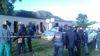 February 24 - The scene of the shoot-out at the Mancoba Seven Angels Ministries Church at Nyanga village. Photo: SAPS