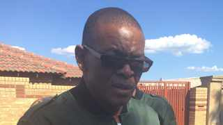 ANC secretary general Ace Magashule outside Winnie Madikizela-Mandela's home in Soweto. Photo: Getrude Makhafola/ANA
