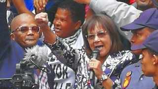 Ousted Cape Town mayor Patricia de Lille was warmly received by supporters outside the Western Cape High Court. PHOTO: Chantall Presence/ANA