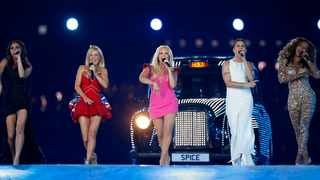'The Spice Girls' perform during the Closing Ceremony at the 2012 Summer Olympics, in London. Picture: Matt Dunham/AP