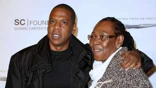 """Shawn """"Jay Z"""" Carter poses with his mother Gloria Carter at a fundraising event to support his college scholarship program in New York. Picture: AP"""