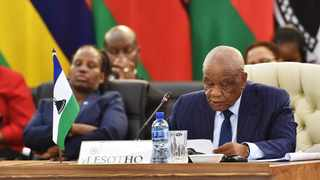 President of Lesotho Tom Thabane delivering solidarity statement during the SADC Solidarity Conference. Thobane, has warned that his government is in danger of collapse unless the warring factions within the party urgently resolve their differences. File photo: Jairus Mmutle/GCIS.