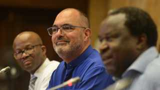 Sars Commissioner Edward Kieswetter, pictured with Finance Minister Tito Mboweni. Picture: Oupa Mokoena/African News Agency (ANA)