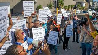 Members of the Trade Union for Musicians of South Africa (TUMSA) march in protest over the Copyright Amendment Bill in April 2019. File photo: David Ritchie/African News Agency (ANA)