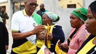 ANC general secretary Ace Magashule in Philippi campaigning for the ruling party in the upcoming elections. Picture: Phando Jikelo/African News Agency(ANA)