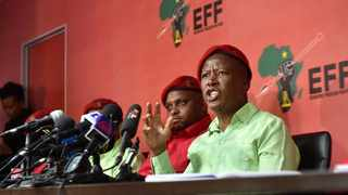 EFF leader Julius Malema accused Old Mutual Chairman Trevor Manuel of being a servant of White Monopoly Capital.  Picture: Itumeleng English/ African News Agency (ANA)
