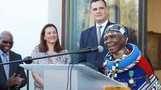 Ambassador of France to South Africa Christophe Farnaud bestowed on Dr Mahlangu the award of Officier de L'Ordre Arts et Lettres (Officer of the Order of Arts and Letters). Picture: Jacques Naude/African News Agency(ANA)