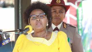 Minister of Defence and Military Veterans Nosiviwe Mapisa-Nqakula at the SANDF Women's Day parade in Tshwane. Picture: Jacques Naude/African News Agency(ANA).