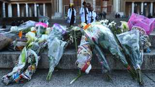 UCT students left flowers in memory of the rape and murder victim Uyinene Mrwetyana, a first year film and media student. Picture: Phando Jikelo/African News Agency(ANA)
