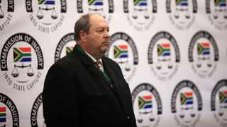 Senior Hawks detective Colonel Kobus Roelofse testified before the Zondo Commission of Inquiry into State Capture on how senior officers had looted the slush fund. Picture: Nhlanhla Phillips/African News Agency(ANA)