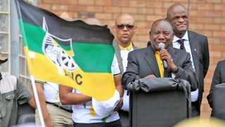 Officials of the African National Congress, led by President Cyril Ramaphosa, are celebrating the party's 108th anniversary in Kimberley. Picture: Danie van der Lith/African News Agency (ANA)
