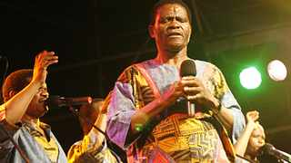 One of Ladysmith Black Mambazo's longest-serving members, Russel Mthembu, has heaped praise up the group's leader, Dr Joseph Shabalala who died on Tuesday. PICTURE: MARILYN BERNARD