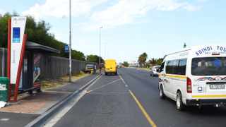 A minibus taxi passes aMyCiTi bus station on the Cape Flats. File picture: Phando Jikelo/African News Agency (ANA)