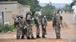 Members of the South African National Defence Force (SANDF) patrol the streets of Majasana near Ennerdale south of Gauteng, supporting police during the national lockdown.Picture: Itumeleng English/ African News Agency (ANA)