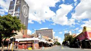The streets of the Joburg CBD are empty during the national lockdown to curb the spread of the coronavirus. Picture: Itumeleng English/African News Agency (ANA)