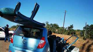 Four people were killed and five others were injured, one critically, when a car and an SUV collided head-on on Deerpark Road in Tzaneen in Limpopo on Saturday morning. Photo: ER24