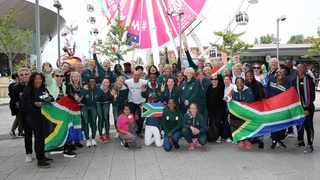 The Proteas, Netball South Africa and all South African supporters in Liverpool gathered together on Mandela Day to pay tribute to Nelson Mandela. Photo: Reg Caldecott