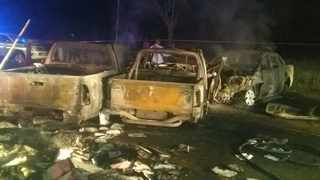 Two people died and three others were seriously injured in a fiery crash. Picture: SAPS