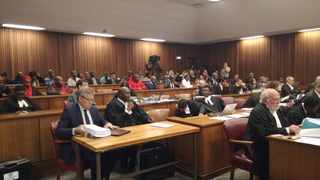 Inside the North Gauteng High Court where Minister of Public Enterprises Pravin Gordhan has applied for an urgent application to suspend and interdict the remedial action orders made against him by Public Protector Busisiwe Mkhwebane on her rogue unit report. Photo: Brenda Masilela / ANA.
