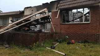 An elderly man suffered serious burns when a house caught alight in Kew in Johannesburg early on Sunday morning. Photo: Netcare 911
