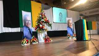 Funeral service for late Bosasa boss Gavin Watson was held at the Feather Market Hall in Port Elizabeth on Tuesday. Photo: Raahil Sain/ANA.