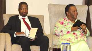 The Africa Institute of South Africa's Dr Shingirirai Mutanga with Dirco minister Naledi Pandor at a symposium on Zimbabwe on Monday. Photo: African News Agency/ANA