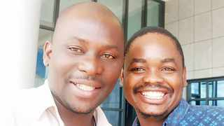 Steve Zimba and Golden Matonga soon after their release in Lilongwe on January 8, 2020. Photo: Supplied (Steve Zimba)