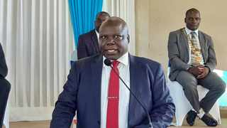 Malawian health minister Jappie Mhango made the announcement on Tuesday. Photo: Malawi Government/ Facebook