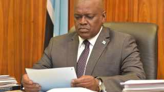 Botswana President Dr Mokgweetsi Masisi extended the current 28 day lockdown by a week. Botswana is on a six months state of public emergency in an attempt to cut the spread of Covid-19. Photo: Twitter/@BWGovernment