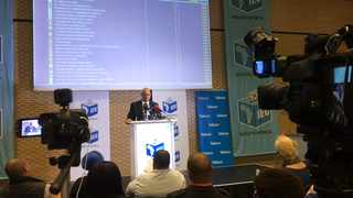 The last press briefing of the Independent Electoral Commission of South Africa after the 21:00 closing of the voting stations takes place at Century City. Each political party were allowed to say a few words within two minutes. Video: Courtney Africa/African News Agency(ANA)