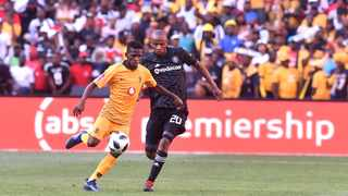 Orlando Pirates player Xola Mlambo challenges for the ball against Kaizer Chiefs youngster Kabelo Mahlasela during the last Soweto Derby at FNB Stadium. Photo: Itumeleng English/African News Agency/ANA